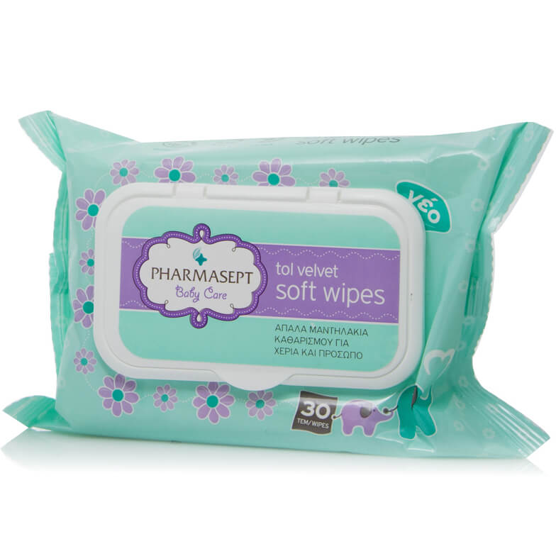 Mε αγορές αξίας 15€ σε προϊόντα Pharmasept baby care Δώρο Pharmasept Tol Velvet Baby Care Soft Wipes Παιδικά Μαντηλάκια